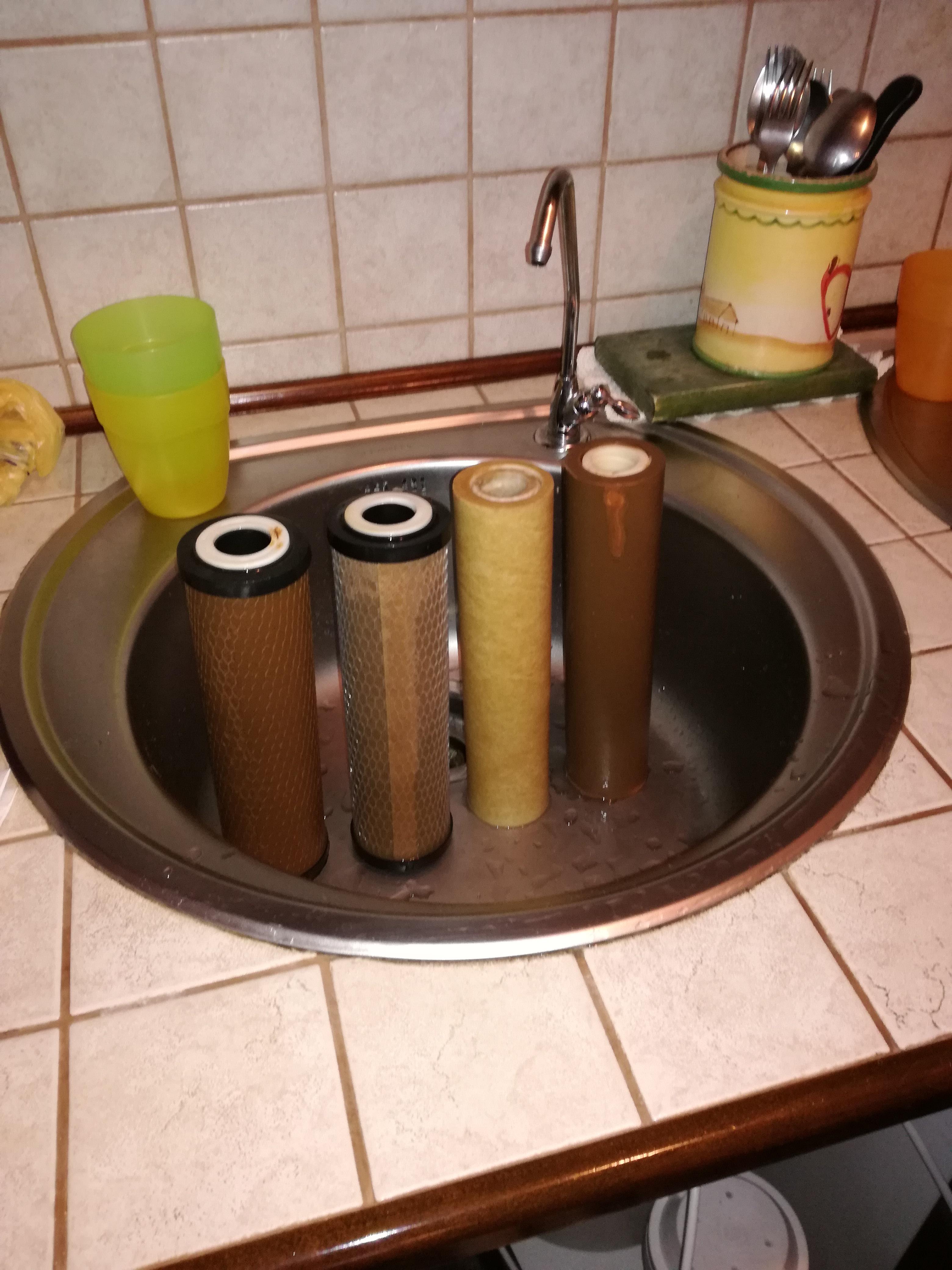 Zamena filtera 2 - iskorišćeni filteri